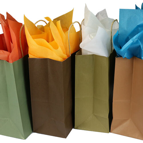 Metallic Paper Shopper Bags