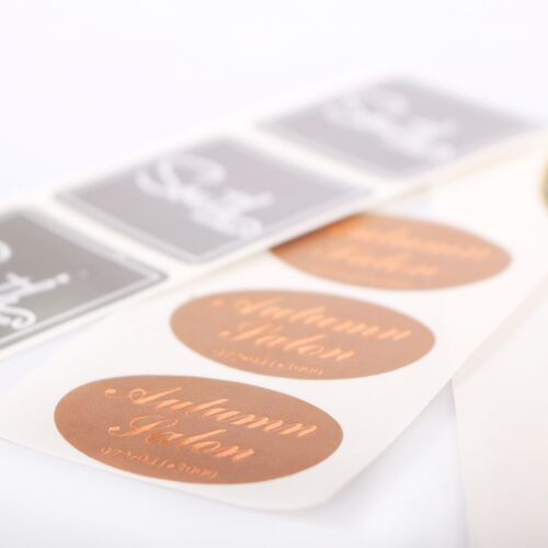 Hot Stamped And Digital Ink Labels